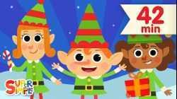 Five Little Elves   + More Christmas Songs for Kids   Super Simple Songs