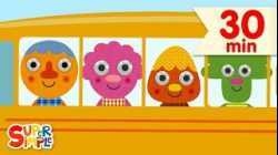 The Wheels On The Bus - featuring Noodle & Pals | + More Kids Songs from Super Simple Songs