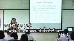 ภาษาไทย ม.2 การสร้างคำ คำประสม คำซ้ำ คำซ้อน ตอนที่ 1 ครูสมศรี เขียวชะอุ่ม