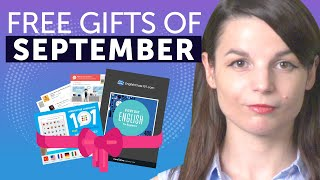 FREE English Gifts of September 2019