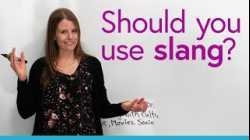 Should you use slang?