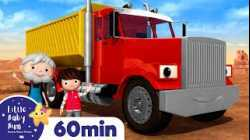 Song About Trucks +More Nursery Rhymes and Kids Songs   Little Baby Bum