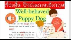 ฝึกอ่านภาษาอังกฤษให้เก่งขึ้นกับเรื่องสั้น...Well-behaved Puppy Dog... พร้อมอธิบายความหมาย