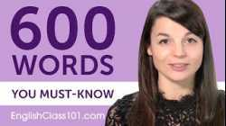 600 Words Every English Beginner Must Know