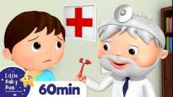 Going To The Doctors Song +More Nursery Rhymes and Kids Songs   Little Baby Bum