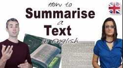 How to Summarise a Text in English - Improve English Reading Skills
