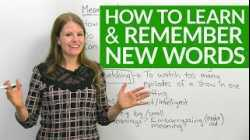 How to LEARN & REMEMBER English Words: My Top Tips