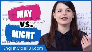 What's the difference: MAY vs MIGHT - Basic English Grammar