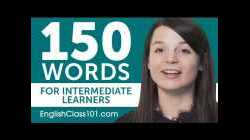 150 Words for Intermediate English Learners