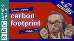 What does 'carbon footprint' mean?