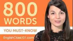 800 Words Every English Beginner Must Know