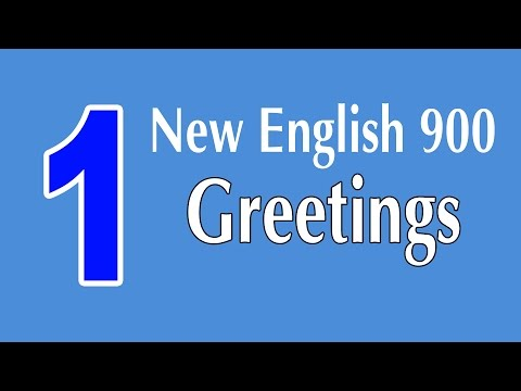 Learning English Speaking Course - New English Lesson 1 - Greetings