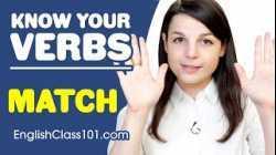 MATCH - Basic Verbs - Learn English Grammar