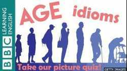A picture quiz about English idioms: Age